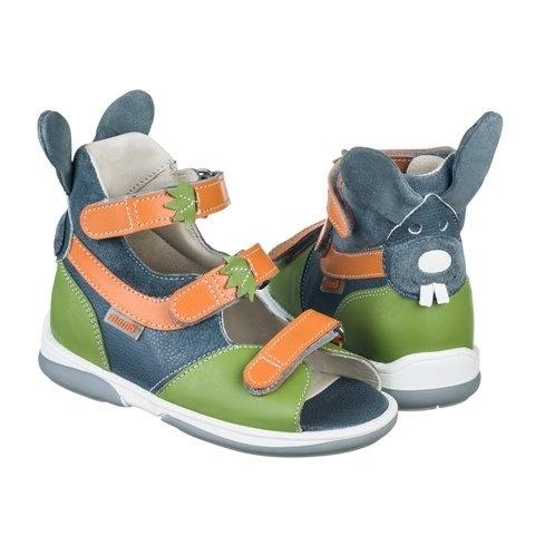Детская ортопедическая обувь MEMO BUNNY 3EA серый-зелен-оранж ... 58471857cb940